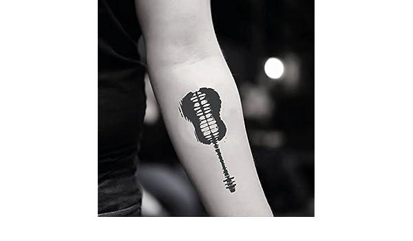 Tatuaje Temporal de Guitarra musical (2 Piezas) - www.ohmytat.com ...