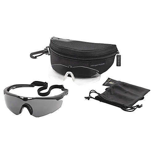 Revision Military 4-0152-0001 Stingerhawk Safety Glasses, Black, Regular