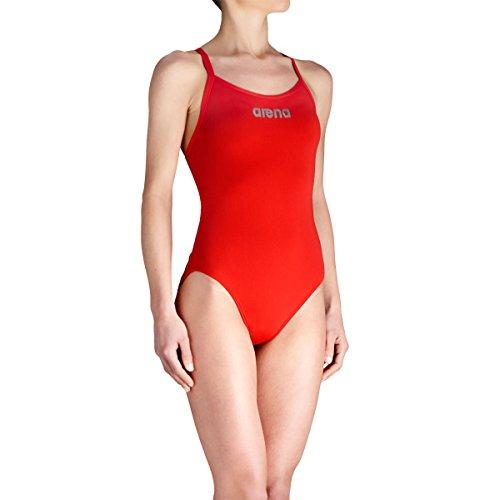 Arena bañador de mujer de mástil, todo el año, mujer, color Rojo - Red/ Metallic-Silver, tamaño 44 [DE 42] Rojo - Red/ Metallic-Silver