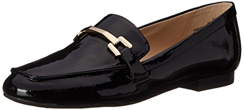 Nine West Women's Lastcall Synthetic Moccasin, Black, 8 M US