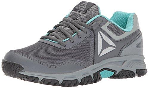 Reebok Women's Ridgerider Trail 3.0 Cross Trainer, Alloy/Flat Grey/Stark Grey/Turquoise/Silver, 5.5 M US