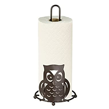 Home Basics PH01781 Owl Paper Towel Holder, Bronze Finish,