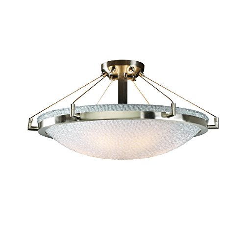 (Justice Design Group Lighting 3FRM-9682-35-TILE-NCKL-LED5-5000 3form-Ring 27