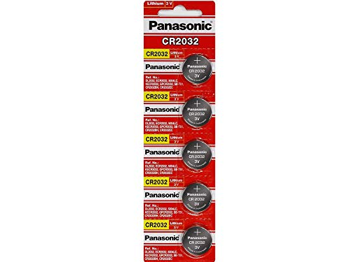 Panasonic CR2032 Lithium 3 Volt Battery (5 pieces) by Panasonic (Image #1)