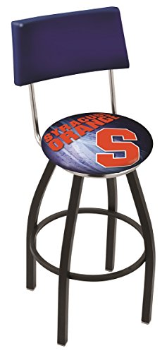 Holland Bar Stool Officially Licensed L8B4 Syracuse University Swivel Counter Stool, 25