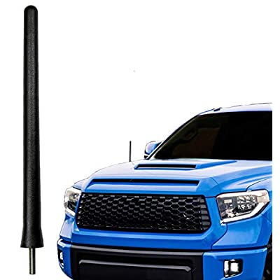 AntennaMastsRus - The Original 6 3/4 Inch is Compatible with Toyota Tundra (2000-2020) - Car Wash Proof Short Rubber Antenna - Internal Copper Coil - Premium Reception - German Engineered: Automotive