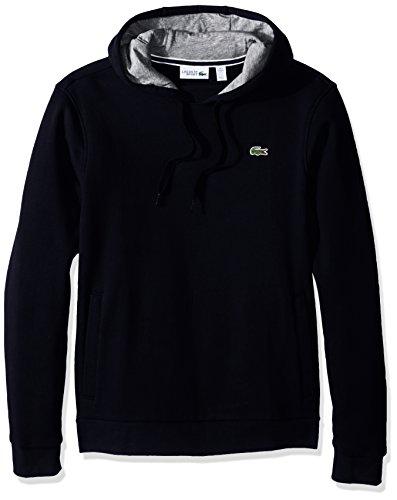 Lacoste Men's Sport Pull Over Hoodie Fleece Sweatshirt