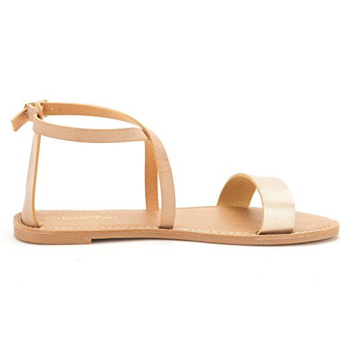1fdbd0887158 DREAM PAIRS CROX New Women Open Toe Fashion Crisscross Valcre Ankle ...