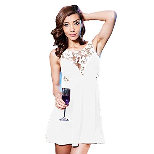 Club Women White Dress Garden Hollow Beauty Summer Sexy Party Dresses 5qvwOP0