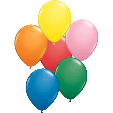 PIONEER BALLOON COMPANY Standard Opaque Assortment Latex Balloons, 9