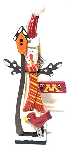 University of Minnesota Snowman with Birdhouse and U of M Sign