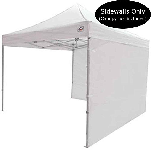 Impact Canopy 10-Foot Canopy Tent Wall Set, 1 Solid Sidewall and 1 Middle Zipper Sidewall Only, - Impact Top Canopy