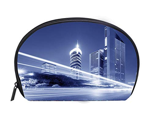 5843b531a6fd Custom design Portable Toiletry Cosmetic Bag Shanghai skyscrapers Ladies  Travel Convenience Small Wash Bag Storage Bag