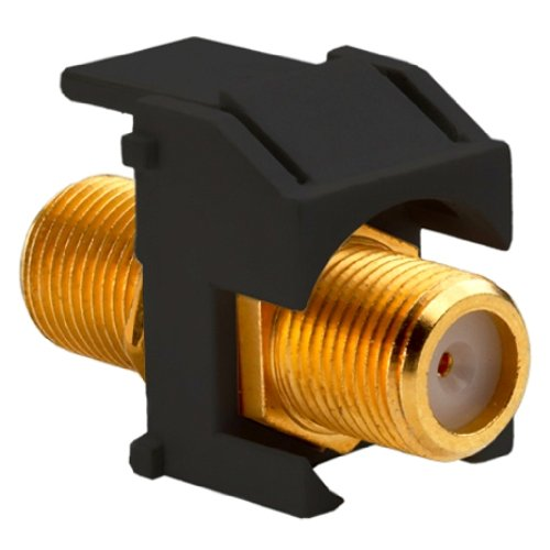 Legrand - On-Q WP3480BK Recessed Gold FConnector, Black