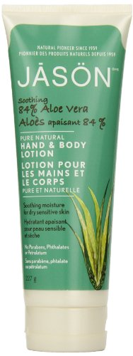 JASON Apaisant 84% d'Aloe Vera Hand & Body Lotion, 8 Tubes Ounce (pack de 3)