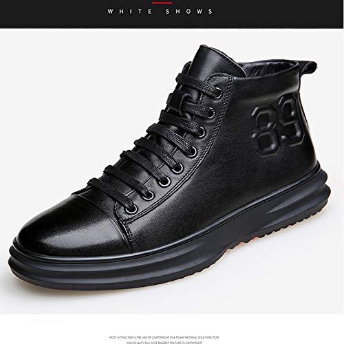LOVDRAM Stiefel Männer Herren Leder Mode Schuhe Sport Herren Casual Herren Sport Schuhe Hohe Schuhe Dicke Warme Martin Stiefel 434fe7