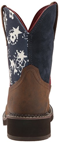 Tooled Cowboy Ariat Western Women's Boot Brown Heritage Fatbaby TqqARBY