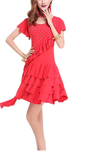 Tango Dancer Costume (Whitewed Tango Events Dance Dancewear Exercise Dress Costume Clothing)