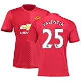 New Season Football Jersey Mens Manchester United #25 Valencia Soccer Home Jersey M