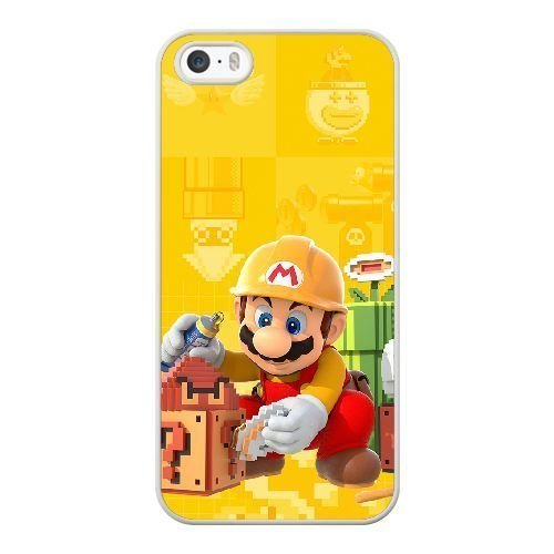 The best gift for Halloween and ChristmasiPhone 5 5s Cell Phone Case White Super Mario Maker (Halloween Chibi Maker)
