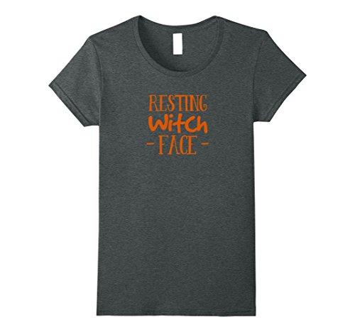 Womens Premium Resting Witch Face Halloween Shirt XL Dark (Helloween Halloween 2017)