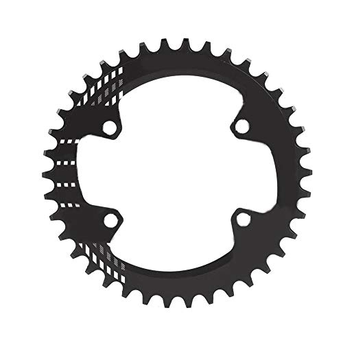 cle Chainring,BCD 96MM Chainring MTB Bike Narrow Wide Round Oval Single Chain Ring for Shimano M6000 M7000 M8000(Black 38T: 16 cm) ()