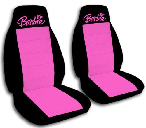 2fundas de asiento negro y caliente rosa barbie para un 2013y 2014Honda Civic Airbag lateral Friendly