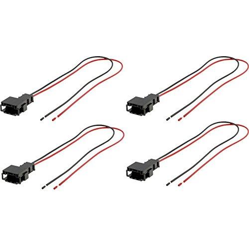 sound-way 4 X Cables adaptateurs fiche pour Enceintes Haut-parleurs pour Mercedes AH-17.4
