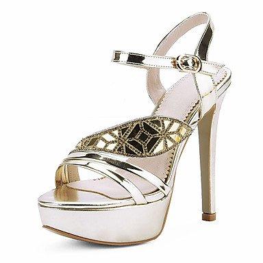 LvYuan Tacón Stiletto-Otro Zapatos del club-Sandalias-Boda Vestido Fiesta y Noche-Semicuero-Plata Oro Silver