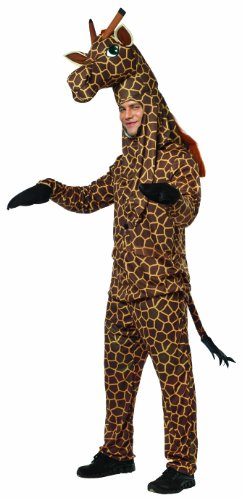 [Rasta Imposta Giraffe Costume, Brown/Yellow, One Size] (Halloween Adult Onesies)