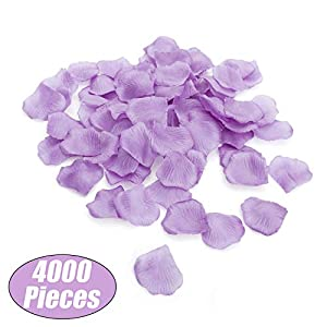 Aspire 4000 Pieces Silk Rose Petals, Artificial Flower Confetti for Wedding Party Gift Decoration-Lavender 44
