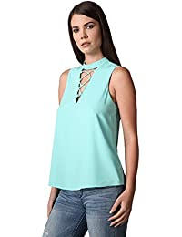 Womens Front Detail Mock Neck TOP