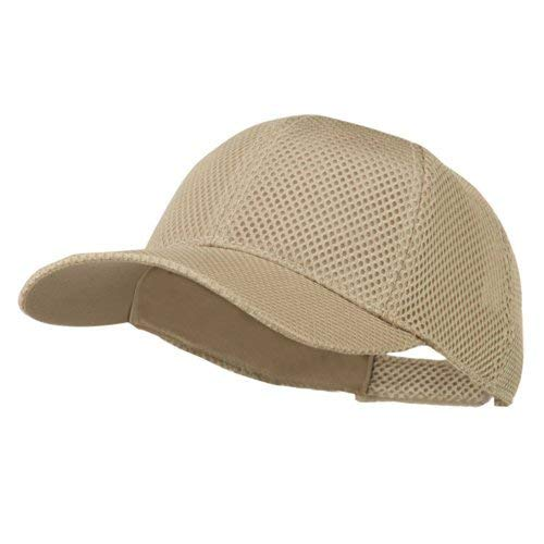 Straw Cap Mesh - Air Mesh Polyester Cap - Khaki OSFM