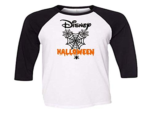Handmade Disney Family Shirt Halloween Mickey Mouse with Spider Web