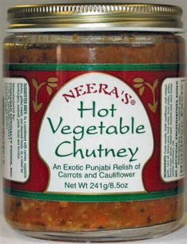 (Hot Vegetable Chutney-Fresh carrots, cauliflower and chilies, 1 Jar)