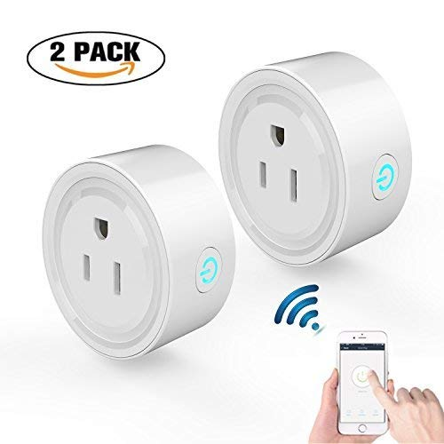 ADDWEL WiFi Smart Plug Mini Wireless Outlet Socket Compatible with Alexa Echo Google Home Assitant No Hub Required, Remote Control Your Devices Anywhere with Timing Function (2 Packs) by ADDWel