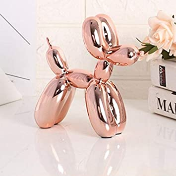 Art Balloons Dog Statue Animal Dogs Home Decoration Resin Craftwork Silver