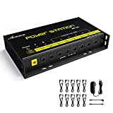 Asmuse Isolated Power Supply 8 Isolated DC Output for 9V / 12V / 18V Guitar Pedal Power Supply with Isolated Short Circuit and Over Current Protection
