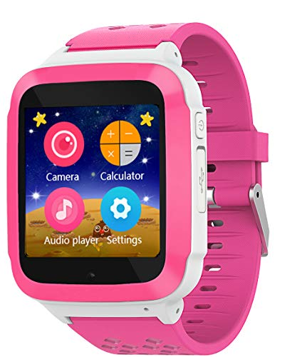 for Kids Girls Boys Children Unlocked 2G GSM Phone Phone Watch with Games (Rosy) ()