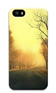 iPhone 5S Case Cover - Trees Roads Custom Design Polycarbonate 3D Back Case Cover Compatible with iPhone 5S and iPhone 5