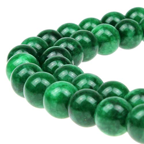 - 8mm Dark Green Crystal Loose Beads 48PCS Per Bag for Jewelry Making DIY Bracelet Necklace Earrings 1 Strand 15