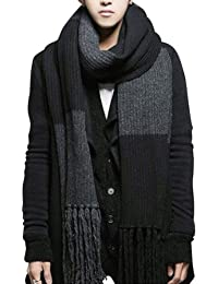 YYX Winter Fashion Womens Men Warm Soft Knitted Long Scarf Shawl