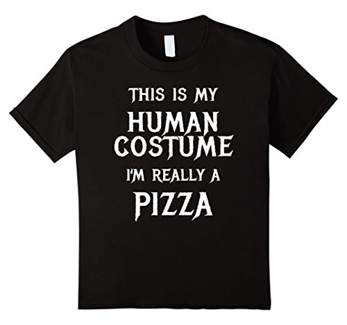 Kids Pizza Halloween Costume Shirt Easy Funny for Men Boys Girls 12 (Easy Halloween Costumes College)