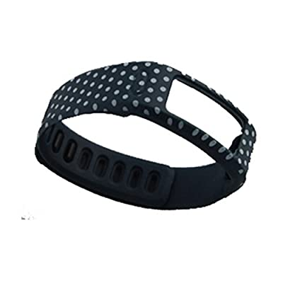 HopCentury Replacement Garmin Vivofit Band Wristband Strap Accessory with Secure Fastener Metal Clasp for Garmin Vivofit - Small or Large