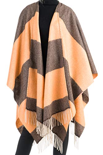 Angiola Made In Italy – Women s 100% Wool   Mohair Cape Made in Italy - 7fe234909c27
