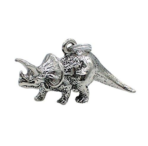 Corinna-Maria 925 Sterling Silver Triceratops Dinosaur ()