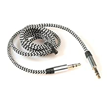 Changeshopping 3.5mm Stereo Car Auxiliary Audio Cable Male To Male for Smart Phone White