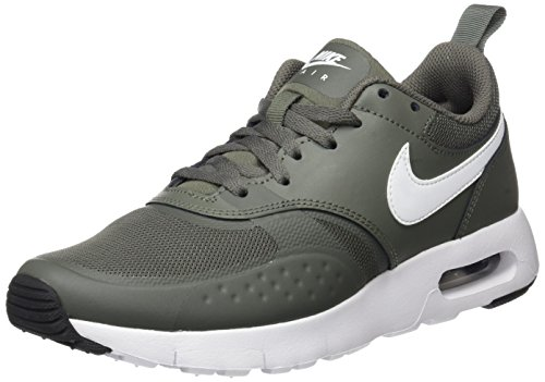 Nike Unisex-Kinder Air Max Vision (GS) Sneaker, Grün (River Rock/White-Outdoor Green-Black), 35.5 EU