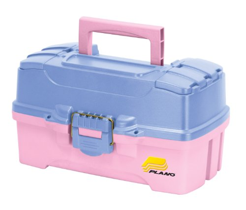Plano 2-Tray Tackle Box with Dual Top Access, Periwinkle/Pink (Best Tackle Box For Makeup)