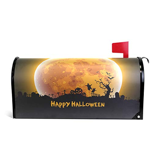 senya Home Garden Happy Halloween Moon Magnetic Mailbox Cover Standard by senya